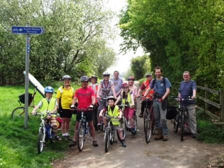 Members of Welwyn Hatfield Cycling on the Potters Bar Family Cycle Ride in 2011